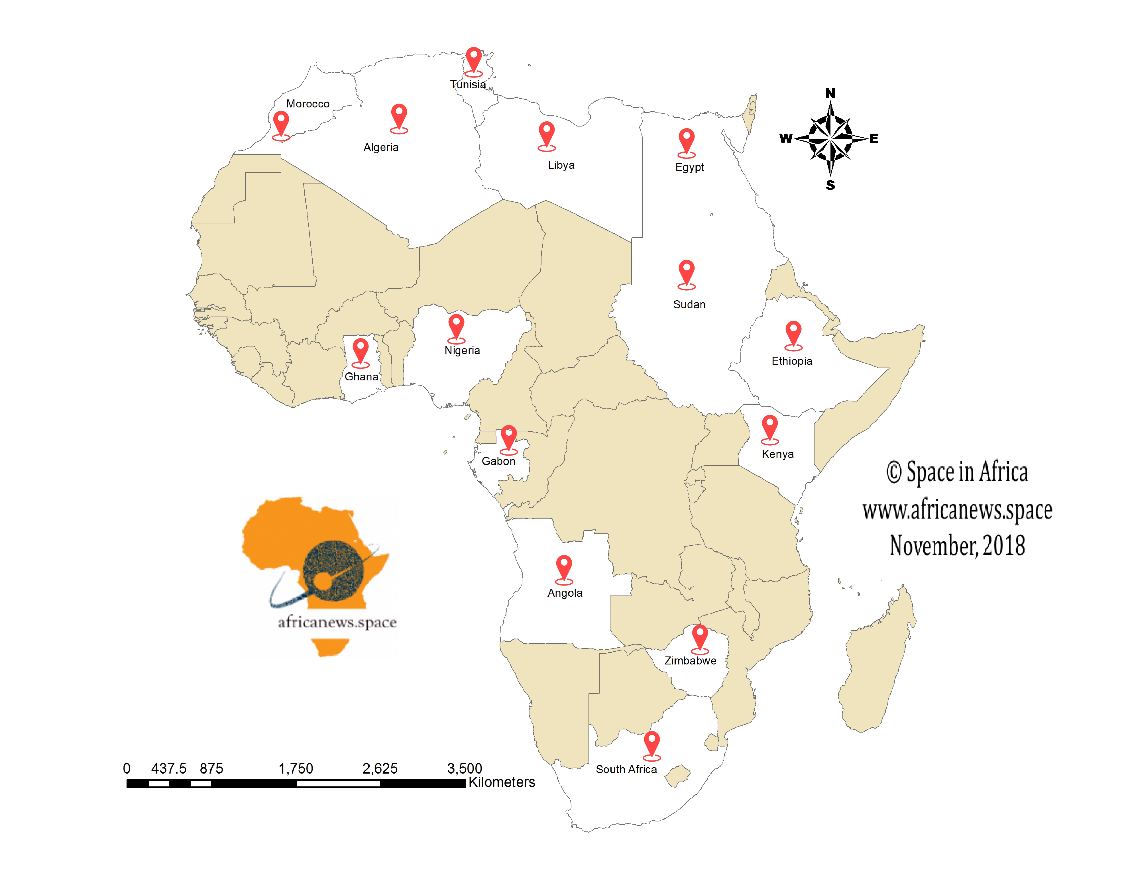 Map Of Africa From Space.List Of Space Agencies In Africa Space In Africa