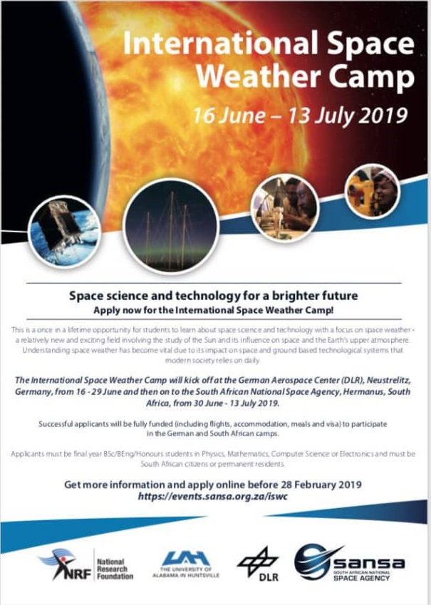 Register to attend International Space Weather Camp (ISWC