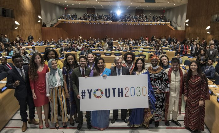 High Level Event on Youth2030 to launch the United Nations Strategy and the Generation Unlimited Partnership. Image Source: UNOOSA