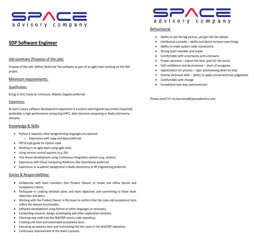 Job opportunities across the African Space Industry - Space
