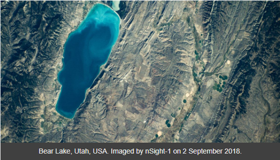 Bear Lake, USA Captured by SCS Space nSight-1 Cubesat