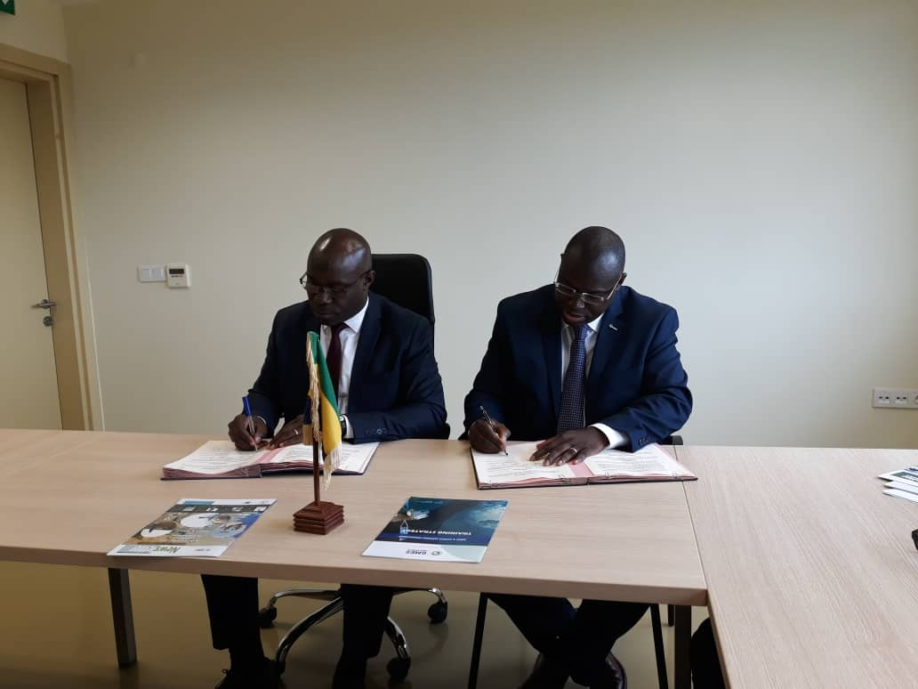 Dr Aboubakar Mambimba Ndjoungui (left) and Dr Tidiane Ouattara