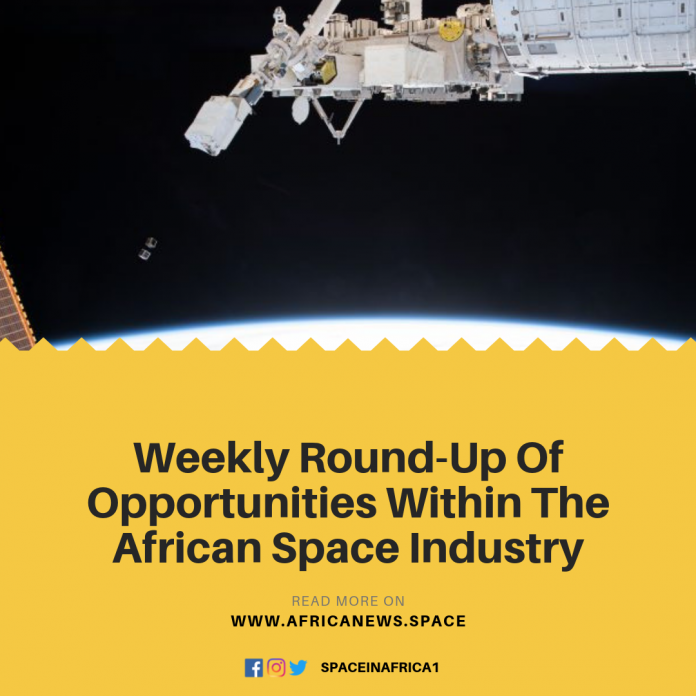 Weekly Round-Up Of Opportunities Within The African Space Industry