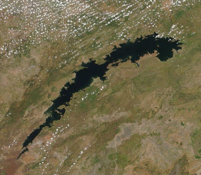 Lake Kariba Satellite images via MODIS