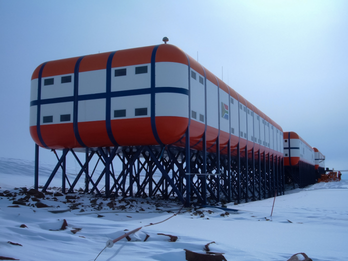 The SANAE IV research station in Antarctica