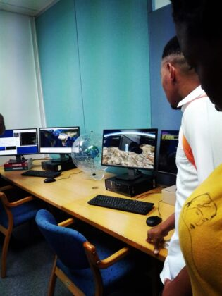 Visit to Spaceteq Grounstation Control room. Photo Credit: Astrofica