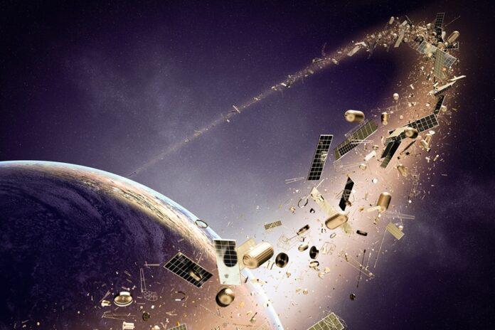 space debris junk cleanup